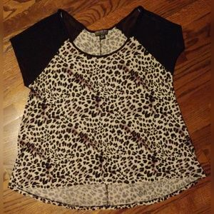 Forever 21 Leopard Print Top